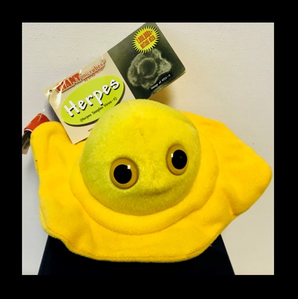 ASCT Giant Herpes Microbe Plushie